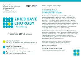Zriedkavé choroby - Slovenská pediatrická spoločnosť