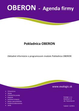 OBERON - Agenda firmy