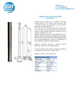 Solárna nerezová sprcha ST03
