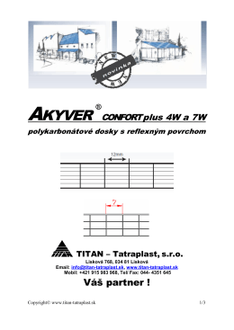 AKYVER Confort plus - Titan