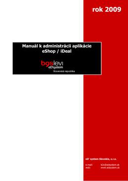 Manuál k B2C Shopu - eD system Slovakia, sro