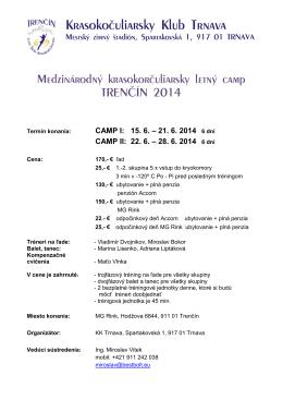 22. 6. – 28. 6. 2014 6 dní