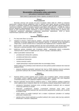STANOVY Slovenského ochranného zväzu autorského pre