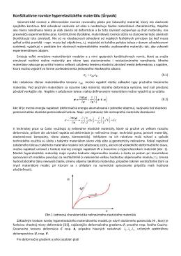 Konštitutívne rovnice hyperelastického materiálu (Úryvok)