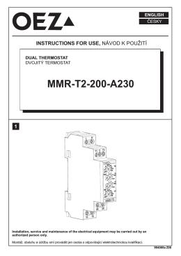 Teplotní relé - MMR-T2-200-A230