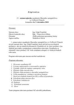 Zápisnica z 1. zasadnutia obecného zastupiteľstva