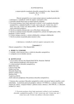 uznesenia 1-5 2014