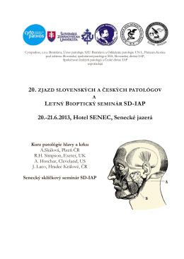 Program - Slovenská spoločnosť patológov