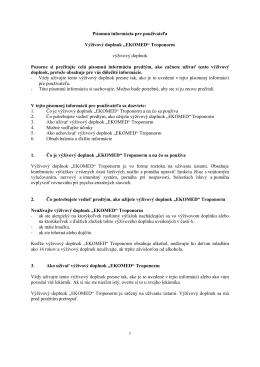 """Písomná informácia pre používateľa Výživový doplnok """"EKOMED"""