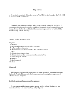Zápisnica zo zasadania OZ 7.11.2012
