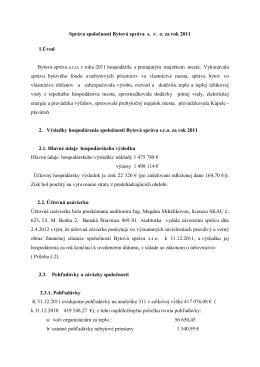 Správa o hospodárení za rok 2011 zo dňa 18.10