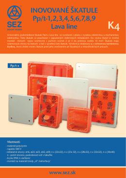 Inovované univerzálne podomietkové škatule LAVA Line