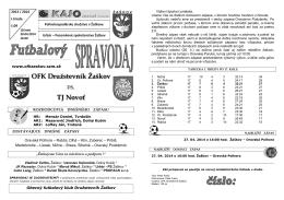 TJ Novoť - OFK Družstevník Žaškov