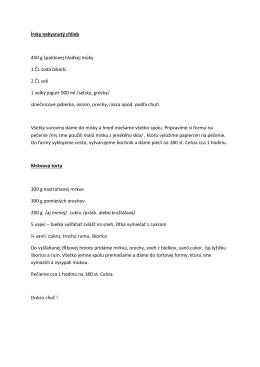 Recept na chlieb a mrkvovú tortu