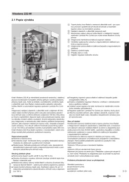 2.1 Popis výrobku Vitodens 222-W 2