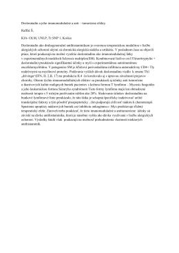 Desloratadin a jeho imunomodulačné a anti – tumorózne