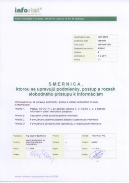 Smernica - Infostat
