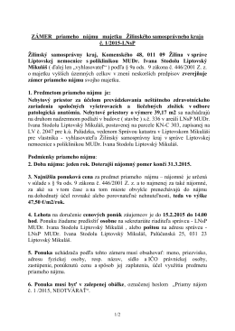 Metodický pokyn č - Liptovská nemocnica s poliklinikou MUDr. Ivana
