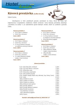 Kávová prestávka (Coffee break)