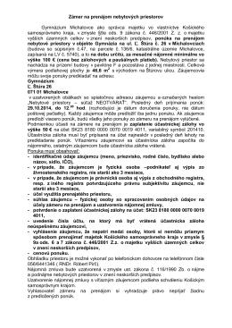 Košický samosprávny kraj - Gymnázium, Ľ. Štúra 26, Michalovce