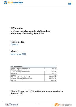 November 2014 - IAB Slovakia