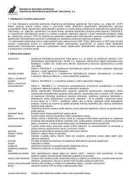 VOP DDS TB _ účinné od 01.01.2014