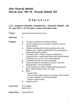 Zápisnica OZ_1 - Plavecký Mikuláš