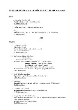 Program - 24. jún 2014