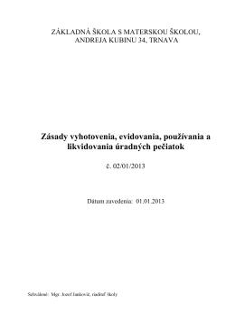 ZÁKLADNÁ ŠKOLA, A - Základná škola s materskou školou, Andreja