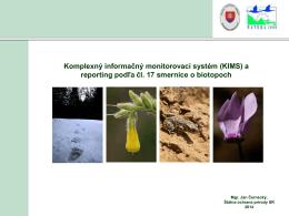 Komplexný informačný a monitorovací systém biotopov a druhov