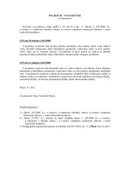POLROČNÉ VYSVEDČENIE (Usmernenie) Polročné vysvedčenie