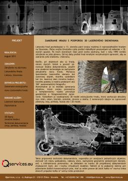 zameranie hradu s podporou 3d laserového
