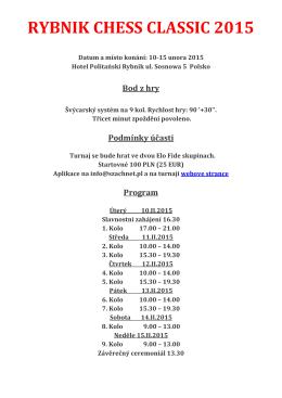 RYBNIK CHESS CLASSIC 2015 CZE akt