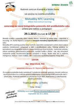 Metodiky NTC Learning 29.1.2015