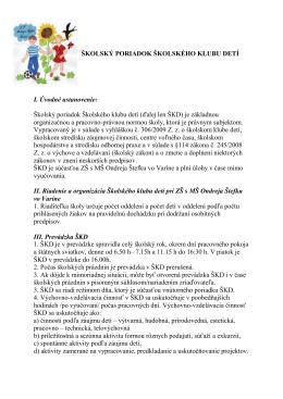 ŠKD školský poriadok.docx - ZŠ s MŠ O. Štefku, Varín