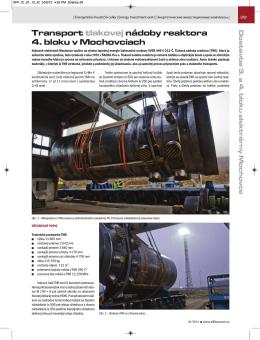 Transport tlakovej nádoby reaktora 4. bloku v