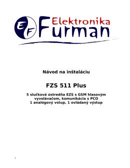 Návod pre FZS 511 Plus vo formáte pdf