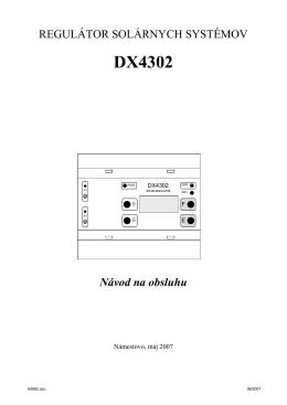 Regulátor solárnych systémov DX4303