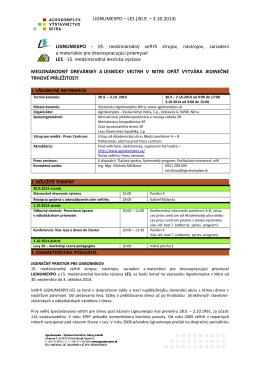 Kompletný informačný prehľad o výstave Lignumexpo 2014