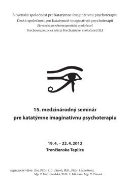 15. medzinárodný seminár pre katatýmne imaginatívnu