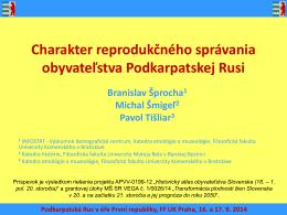 ŠMIGEĽ, Michal - TIŠLIAR, Pavol. Charakter