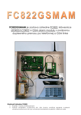 FC822GSMAM je zostava ústredne FC822, klávesnice LED822