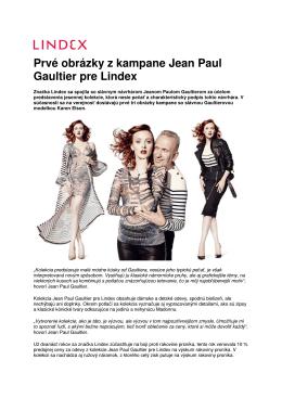 Prvé obrázky z kampane Jean Paul Gaultier pre Lindex