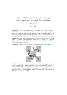 Markovovské re´azce: stacionárne rozdelenie