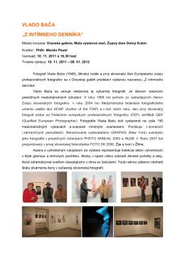 Vlado BAČA - Oravská galéria