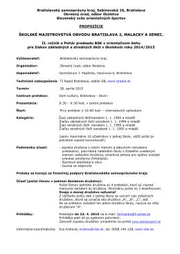 invitation - Slovenský zväz orientačných športov
