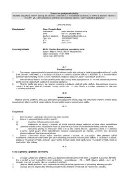 Zmluva 1 borodačova - zbudskabela.wbl.sk
