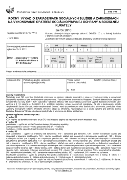 Soc 1-01 - Štatistický úrad SR