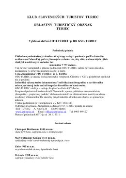 Informácie - KST Turiec