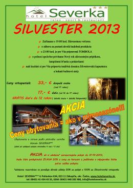 SILVESTER 2013 - Hotel Severka